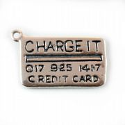 Credit Card 3D Sterling Silver Charms